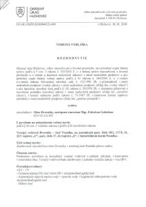 thumbnail of Verejná vyhláška -vodovod Posádka